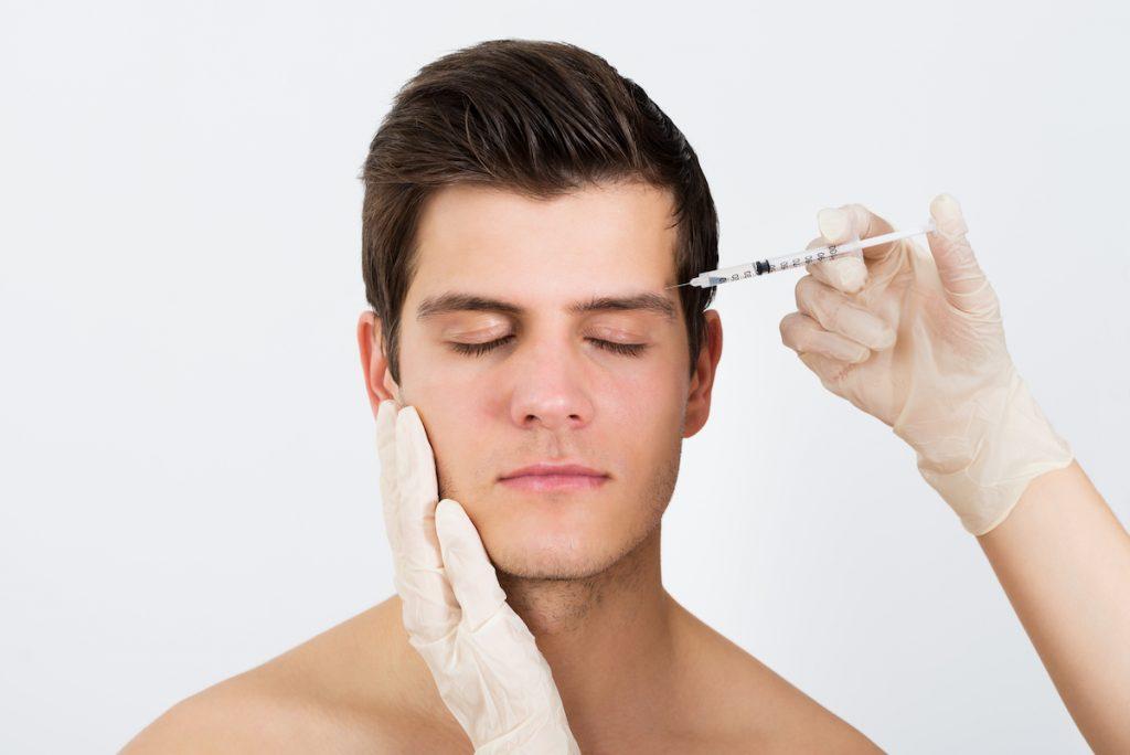 man having cosmetic surgery