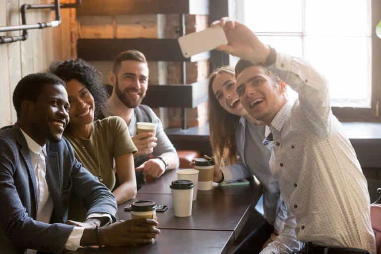 millennials at a cafe